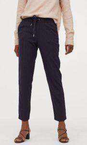 pantalones de mujer a rayas azules