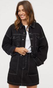 falda de jean negra otoño 2019