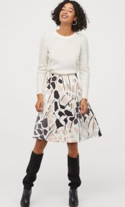 falda de aire ancha h & m