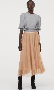 falda larga de otoño con tul