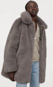 abrigo de piel para mujer h & m 2020