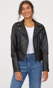 chaqueta piel mujer negra ediva.gr