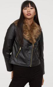 chaqueta de cuero de mujer con pelo