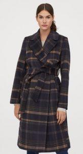 abrigo de mujer a cuadros invierno 2020