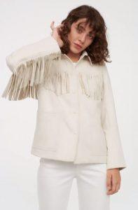 chaqueta vaquera blanca mujer