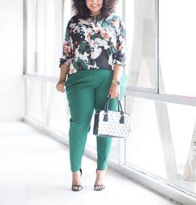 pantalones verdes de línea recta