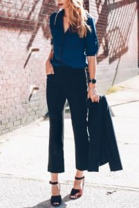 pantalones negros recortados tipo de cuerpo