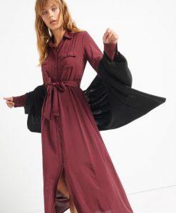 vestido de mujer de pana a cuadros