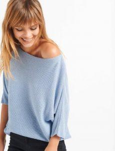 blusa de mujer metalizada