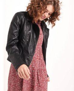 chaqueta de cuero de moda