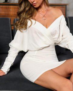 mini vestido blanco vestidos ajustados de manga larga todas las ocasiones