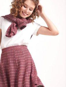 falda de mujer estampada