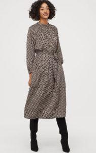 vestido de manga larga aireado h & m 2020