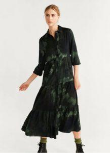 vestido tipo camisa verde