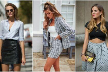 ¡Hermosas combinaciones para tu falda de cintura alta!