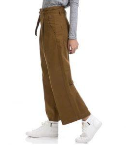 zip panties marrón blanco zapatillas