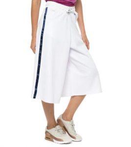 calzoncillos deportivos con cremallera a rayas blancas
