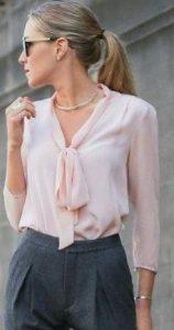 look femenino de moda con camisa