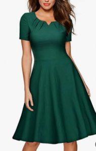 vestido de ciprés de manga corta