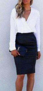 falda de mujer ajustada