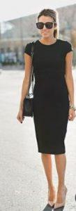 vestido negro entallado clásico
