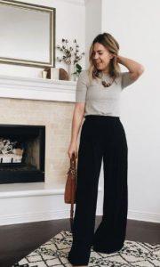 pantalones negros de mujer