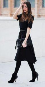 elección de moda de vestido negro